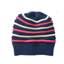 High quality cheap custom foldable arcylic knitted winter hat for woman