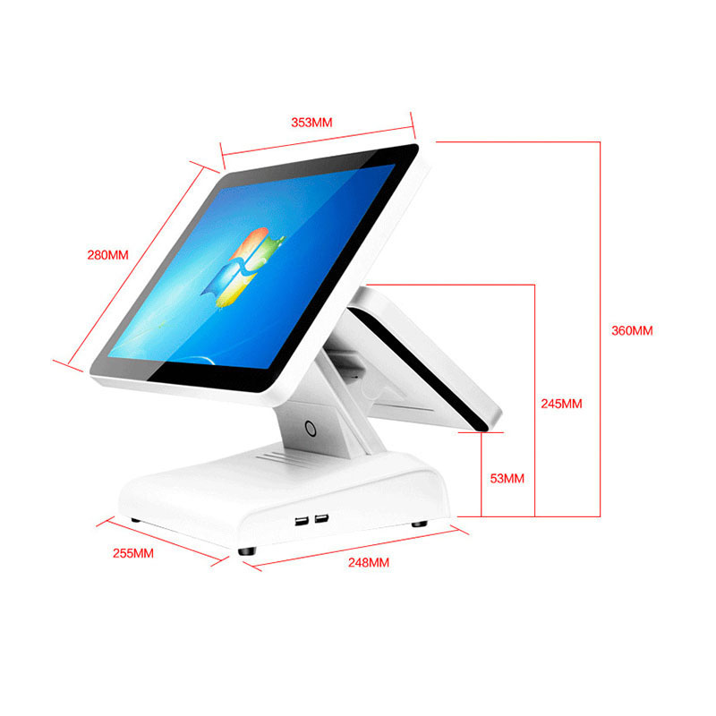 POS System 4GB+64GB 12 inch LCD Screen Customer Display