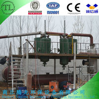 6 tons waste tyre pyrolysis machine to make crude oil