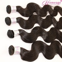 Homeage high quality human hair natural good hair virgin caribbean hair body wave