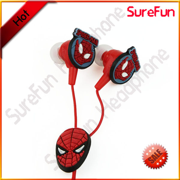 cute cartoon shape earbuds earphone with custom design
