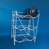white metal wire 5 gallon 6 bottle water rack for cooler