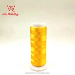 Royal yellow 100% Rayon embroidery thread 120D/2 19g