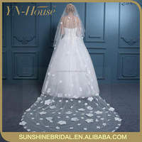 one layer long bridal veil cheap tulle wedding veils and accessories