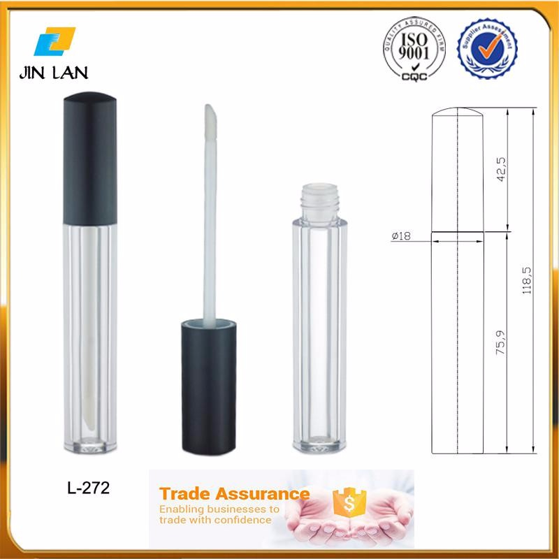 China Customization color cosmetic tube lipstick tubes empty lip gloss packaging aluminum oval lip balm container