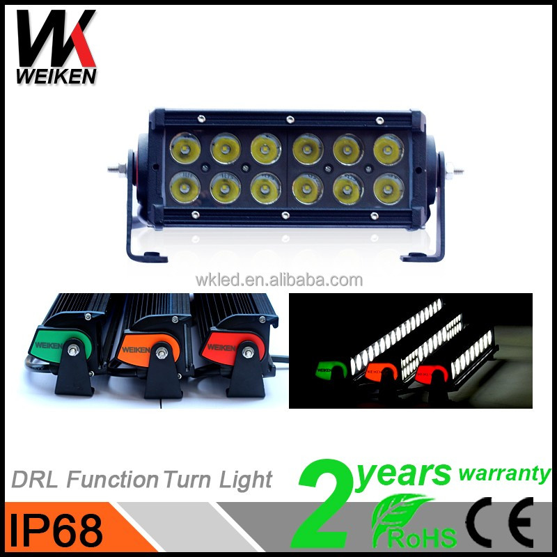 WEIKEN Mini Led Light Bar 3W Led Light Bulb 36w 12v Amber Off road Jeep Motorcycle Accessories