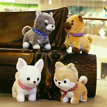 High quality soft plush dog toy with scarf,kids favorite plush dog toy claw machine toys