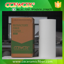 Insulating ceramic fiber security Paper