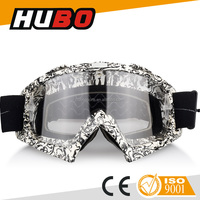 HUBO New Design Water Transfer Printing TPU Frame Customized Motocross Motocycle Goggles make in china manufacturer