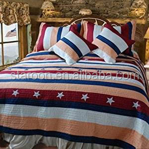 high grade super soft printed quilt set bedding for nome use