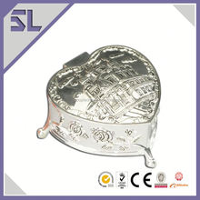 Custom Made Vintage Style Small Metal Trinket Box Metal Wedding Gift Supplier In China
