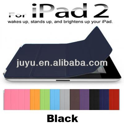 Anti-shock Stylish PU Micro Fiber Smart Cover for iPad 2 Color