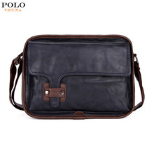 VICUNA POLO 2017 New Arrival European And American Style Wholesale V8818 Fashion Blue Soft PU Leather Cross Body Bag For Men
