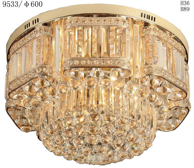 New style quality crystal chain ceiling lamp