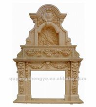 decorative beige marble fireplace mantel SYBX-AA17