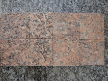 Maple red G562 granite flamed cube cobbles Outdoor Paving 10x10
