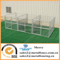 6'X8' metal tube welded wire mesh dog kennel with fight guard divider and 3 dog runs