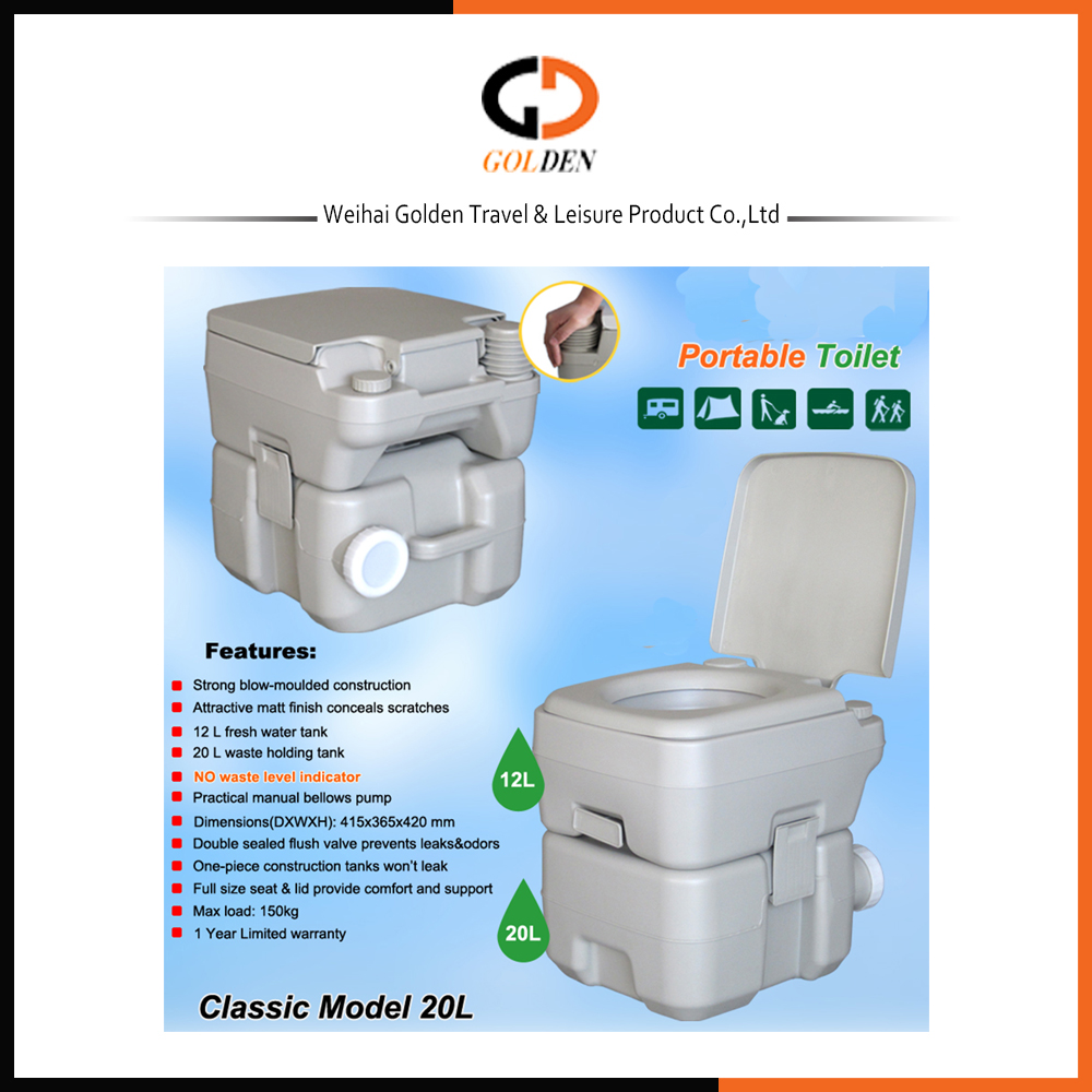 Outdoor Camping Mobile Flush plastic Portable chemical Toilet