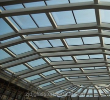 glass glass roofing panels