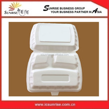 3 Compartment Foam Food Container
