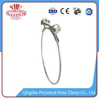Steel Hose Clamps Small Steel Wire Rope Form Spring Cross Clamp