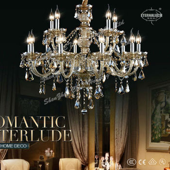 Luxury contemporary cognac crystal chandeliers for England ETL84017