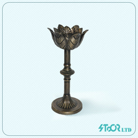 Modern Lotus Flower Small Metal Candle Holder