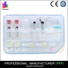Beauty products plasma gel tubes prp glass tube blood group test kit
