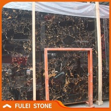 Chinese cheap black athens portoro gold marble