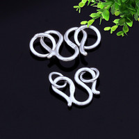 "2016 NEW 925 Sterling Silver Jewelry Finding ""W"" Type Adjustable Clasps& Hook for Jewelry Making Findings MoonSo KA2671S"