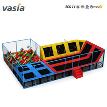 Hot indoor trampoline park with safety net for sale