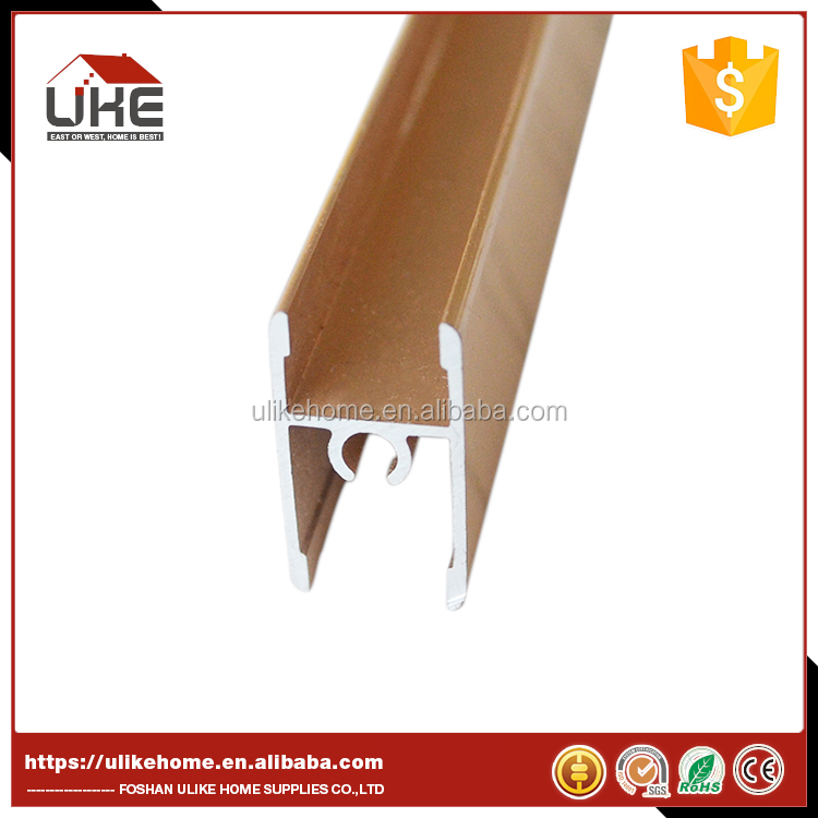 Aluminum Middle Frame Profile For Closet Sliding Door System