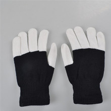 Top quality unisex game party entertainment cheering up led flash lighting rainbow gloves