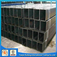 welded ms rectangular tube pipe hollow metal pipe