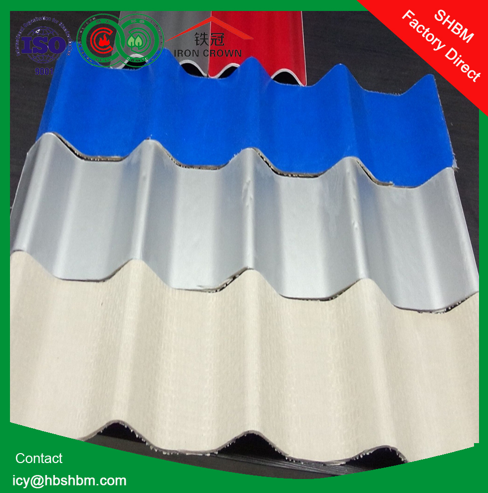colored roofing granules , MGO anti-corosion insulated fireproof roofing sheet better than colored roofing granules