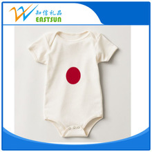 Factory supply plain baby body suit 100% cotton baby clothes gown