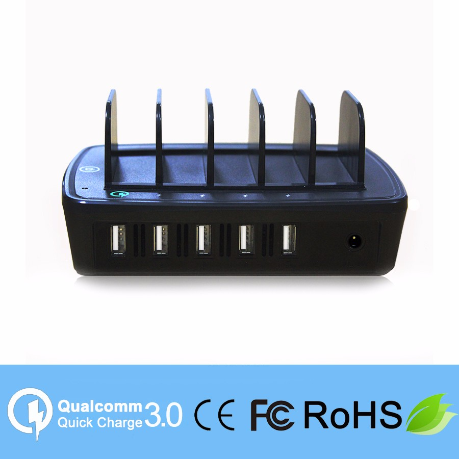qc 3.0 5 Port 2.4A quick charge mobile phone multi charger dock