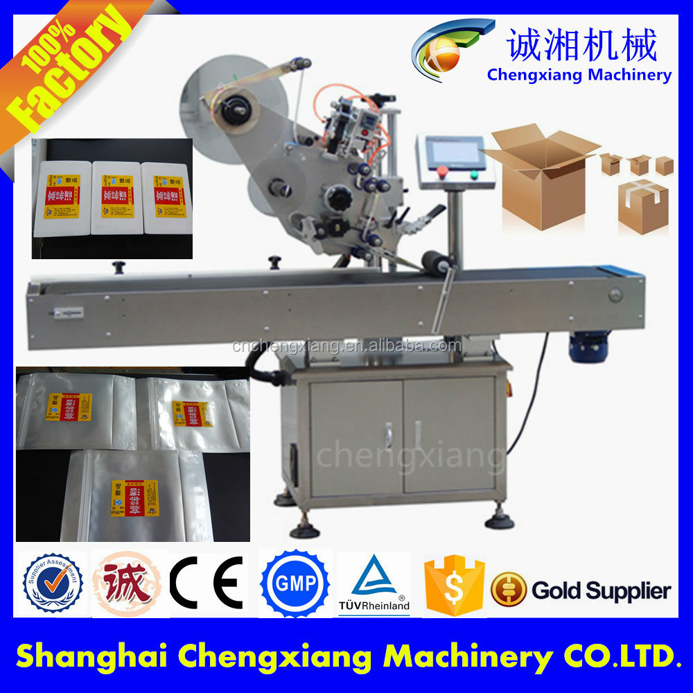 High speed servo motor carton box labeling machine on top for High speed servo motor
