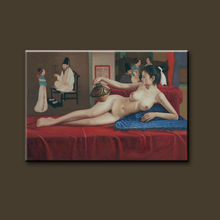 Pure hand-painted high quality Beautiful Sex Nude China Girl Photo For Canvas Painting