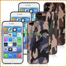 factory price Camouflage soft TPU mobile phone Case for iPhone 7