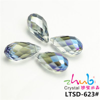 Random Mixed Color Tear Drop Crystal Spacer Loose Pendant Beads Faceted Crystal Beads Wholesale
