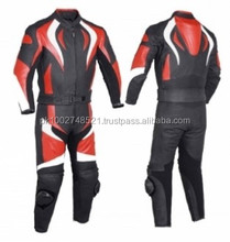 Leather Motorbike Suit B/R