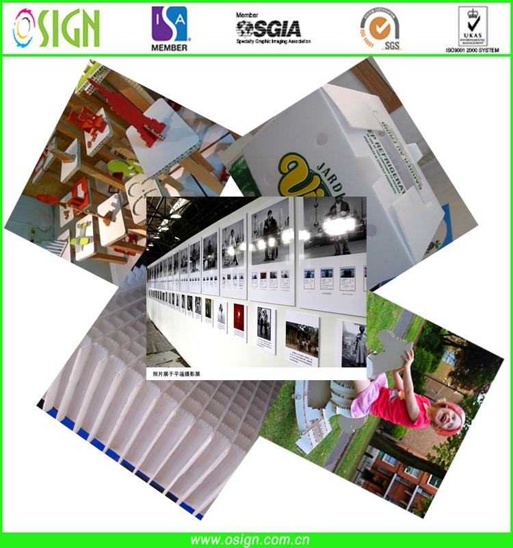 High quality polyflute sheets, impraboard, polyflute boards for digital printing
