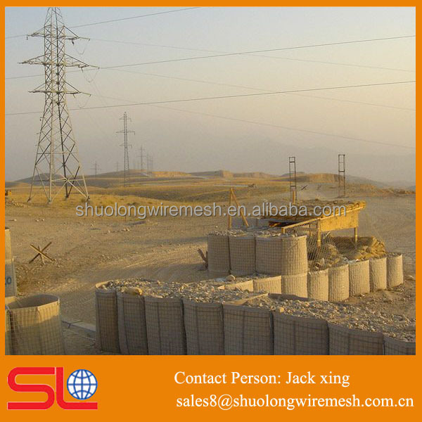 Using security galvanized before weaving welded mesh military hesco barrier bastion price