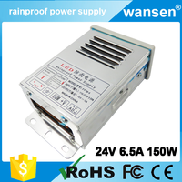 china supplier 150W single output waterproof dc 24V 6.5A power supply and led driver