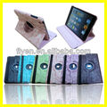 Magnetic PU Rotating Leather Cases For iPad mini Smart Cover wholesale Cheap Tablet Belt Clip Case Covers Embossing Flower Black