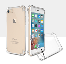 Wholesale cell phone accessory for iphone 7 TPU Shockproof Protective Phone Case transparent cases