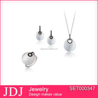 New Design high quality 925 silver jewelry set with synthetic stone and cz stone