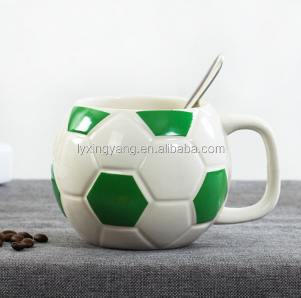 Creative Design Brazil World Cup Porcelain Football coffee Mug Cup/ball shape mug with big belly