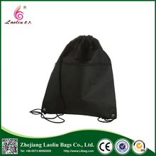 Factory direct sell cheap waterproof nylon cotton polyester drawstring bag